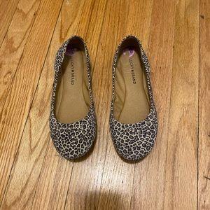 Lucky brand leopard print flats women 8 1/2
